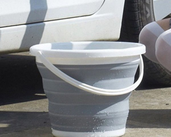 10L plastic round folding bucket