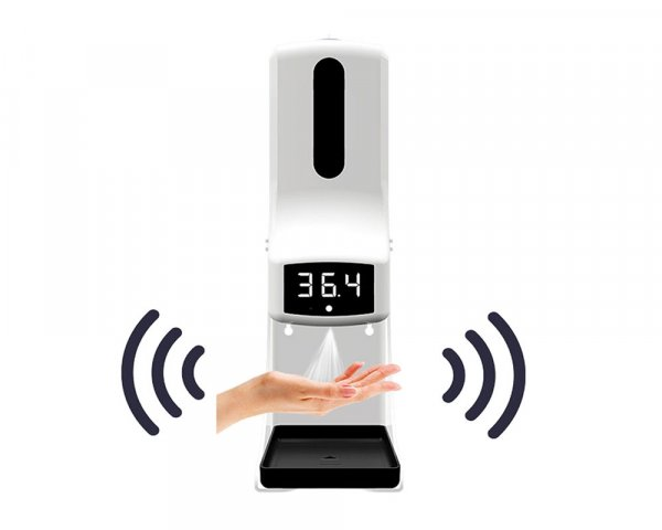 Automatic Hand Soap Dispenser with Digital Thermometer